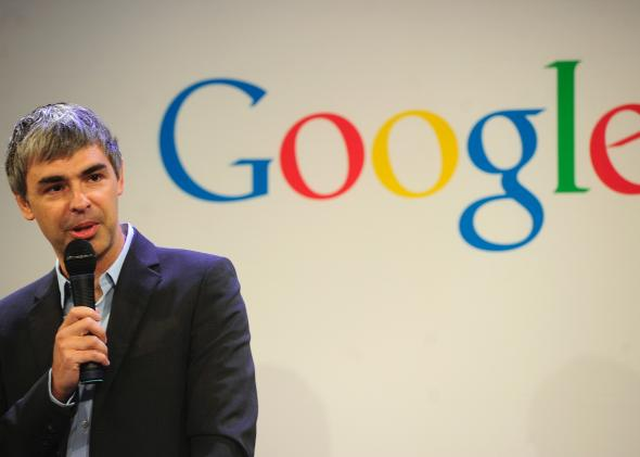 Google CEO Larry Page at Google headquarters in New York on May 21, 2012.