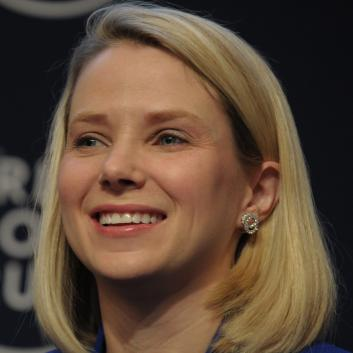Marissa Mayer, now CEO of Yahoo, at the World Economic Forum in Davos on Jan. 22, 2014.