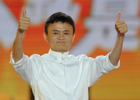 Gives alibaba founder