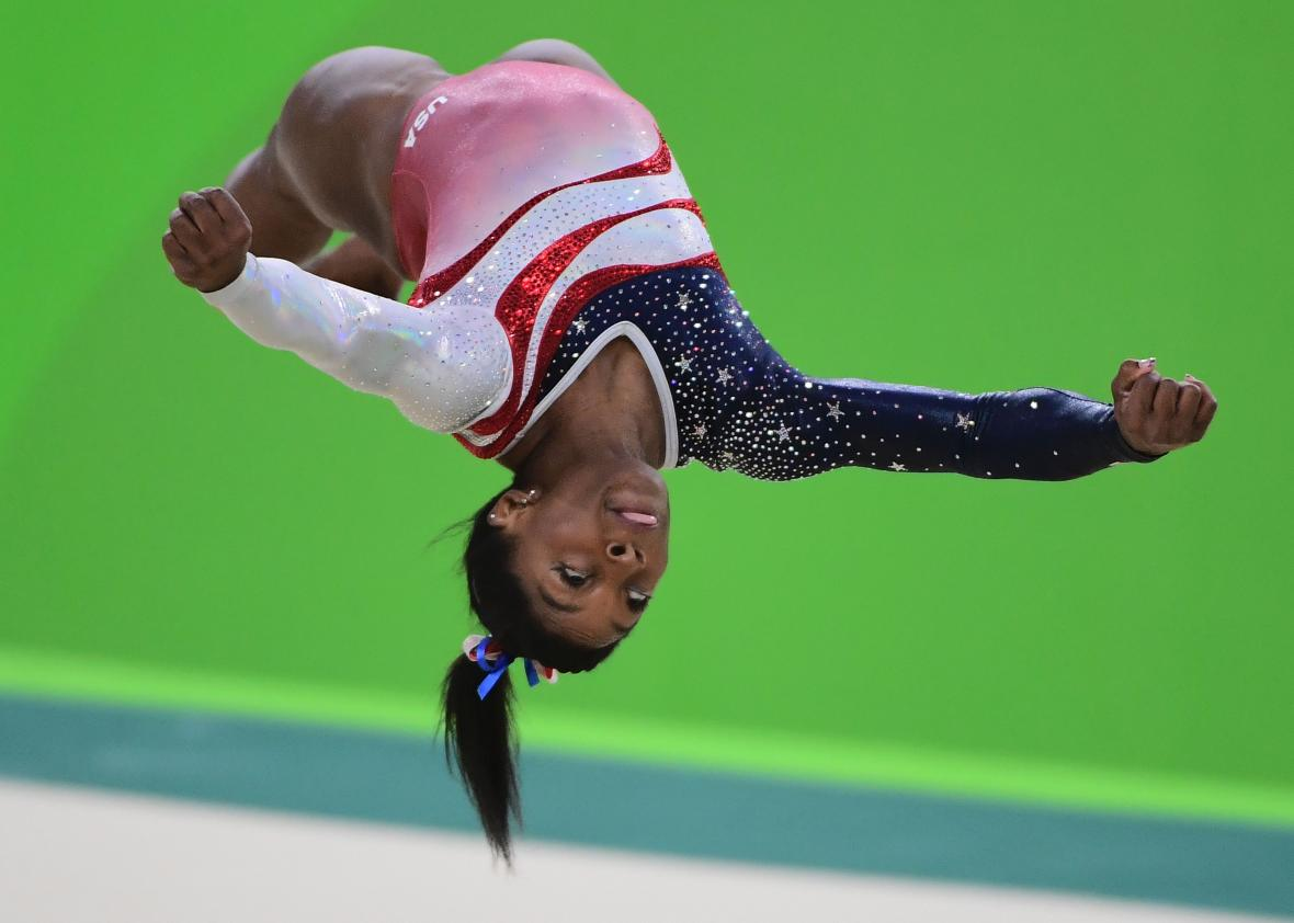 The gymnastics floor at the 2016 olympics has literal for Floor gymnastics