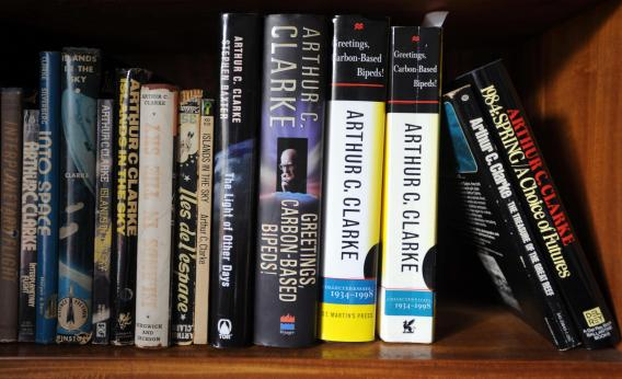 Books written by science fiction author Arthur C. Clarke