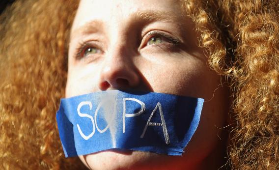SOPA protesters helped inspire the Declaration of Internet Freedom