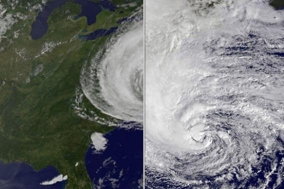 Hurricane Sandy vs. Hurricane Irene