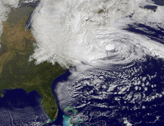 NASA Hurricane Sandy satellite image