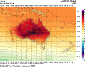 Australia Heat Wave New Color Added To Weather Maps Fire Danger - Us weather map celsius