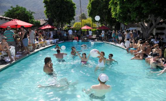 Pool Party People Enjoy A Pool Day Despite The Glaring Absence Of Liquid Nitrogen One Of The