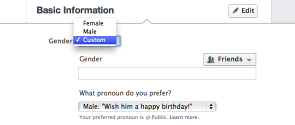 Facebook gender other