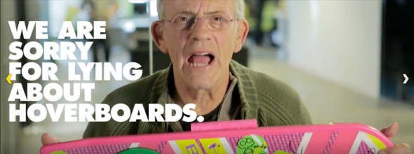 Christopher Lloyd is #sorrynotsorry for lying about hoverboards.