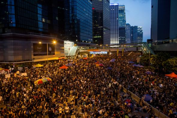 456449660-thousands-of-protesters-gather-outside-the-hong-kong