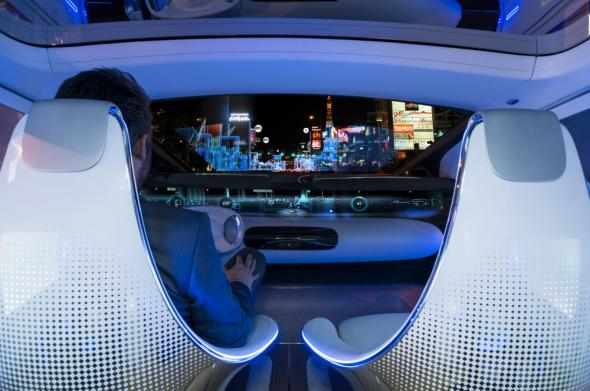 ces mercedes f015 luxury in motion self driving concept car is wildly futuristic. Black Bedroom Furniture Sets. Home Design Ideas