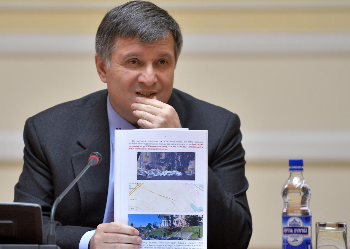 Ukrainian Interior Minister Arsen Avakov in 2014
