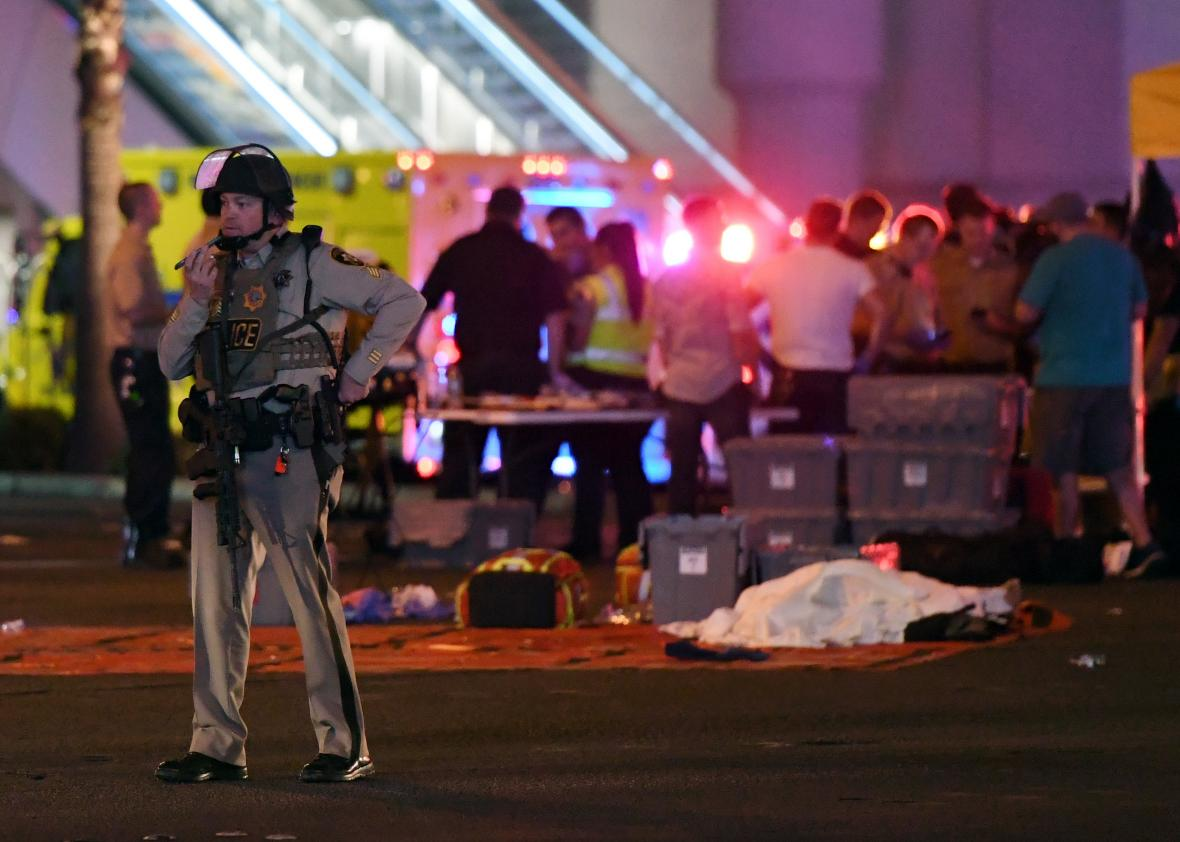 Las Vegas shooter had cache of 19 weapons in hotel room