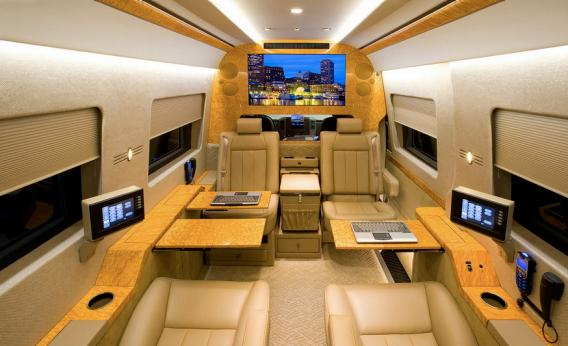 Via Peter Cohen Come The Stylings Of Becker Auto Designs Ultra Luxury Conversion Vans That They Dub Jetvans By Way Analogy To Private Jets