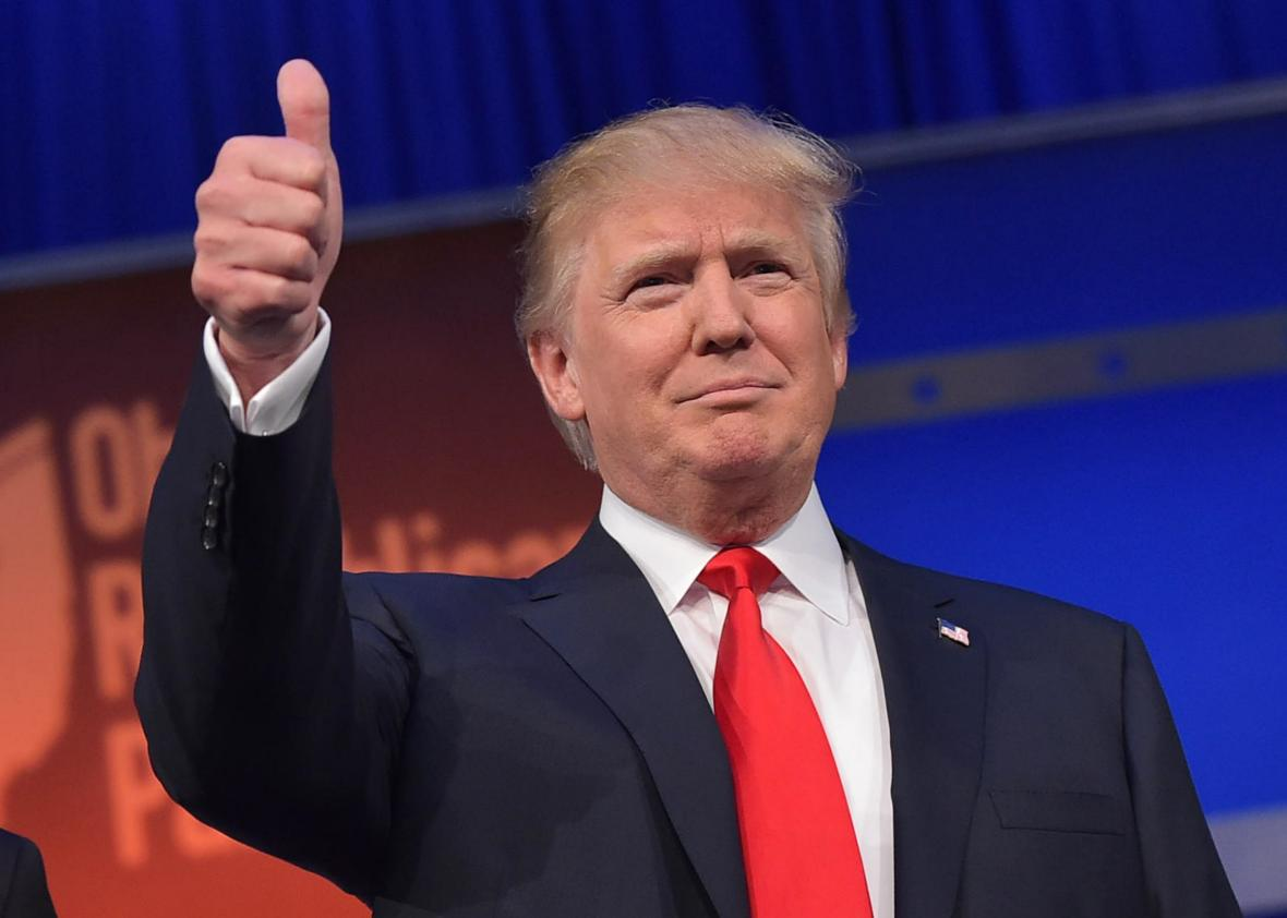 Trump, elegido presidente de EE.UU. ante la sorpresa del mundo 483208412 real estate tycoon donald trump flashes the thumbs up
