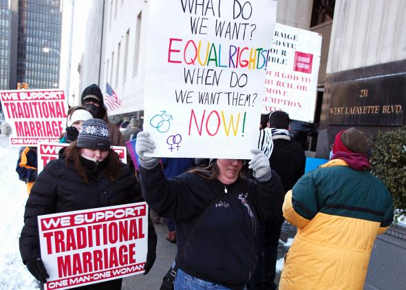 from Russell blogs against gay marriage
