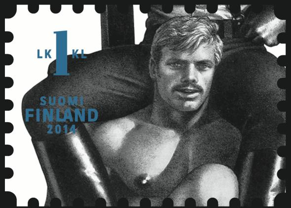 One of Finland's Tom of Finland postage stamps.