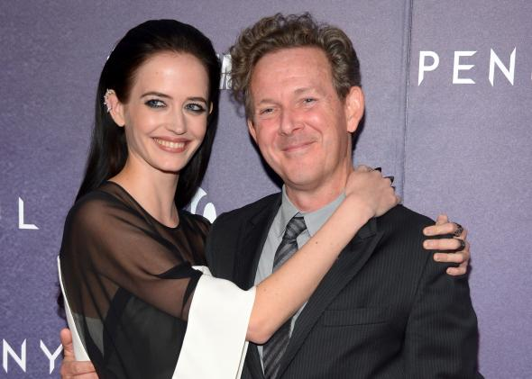 John Logan with Eva Green, who plays Vanessa Ives in Penny Dreadful.