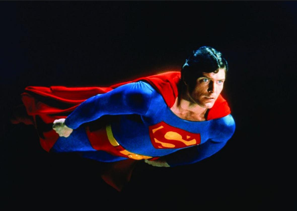 Christopher Reeve in Superman (1978).