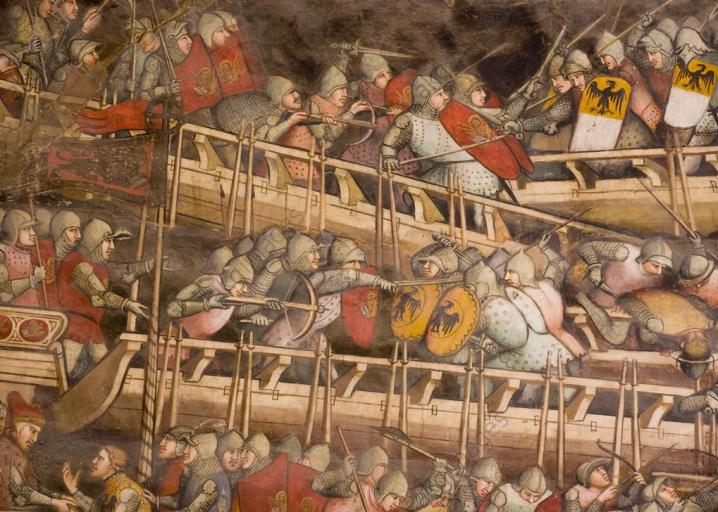 what were naval tactics like in europe during the middle ages