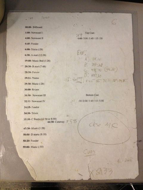 The directors' cheat sheets at some NPR shows have been used so much that they're in tatters.