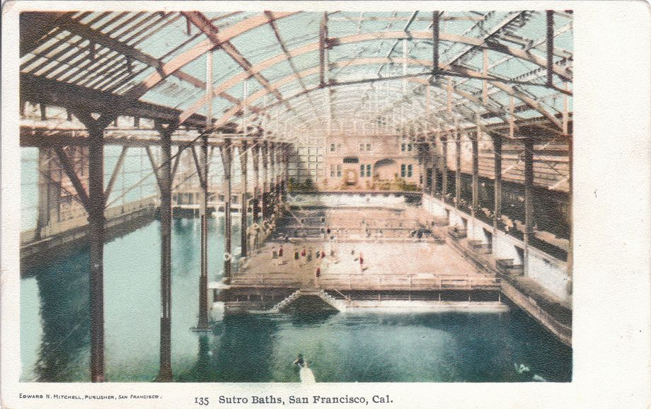 Postcard of Sutro Baths, San Francisco, in the 1910s.