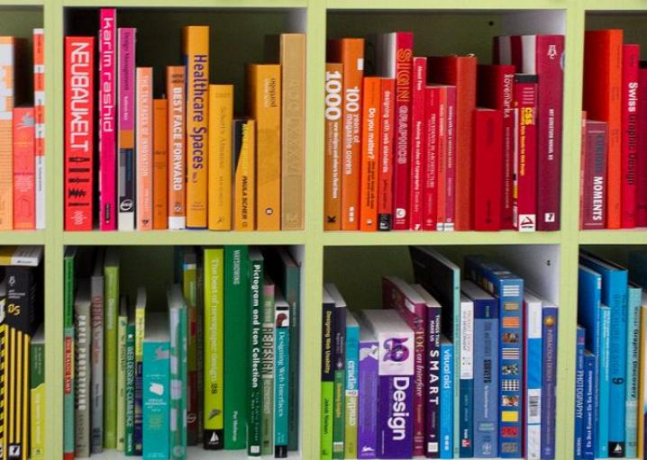 arranging your books by color is not a moral failure - Colored Bookshelves