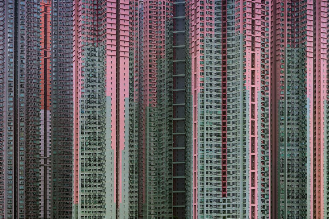 "Photographer Michael Wolf's ""Architecture of Density"" series focuses on the looming scale of high-rises in Hong Kong"