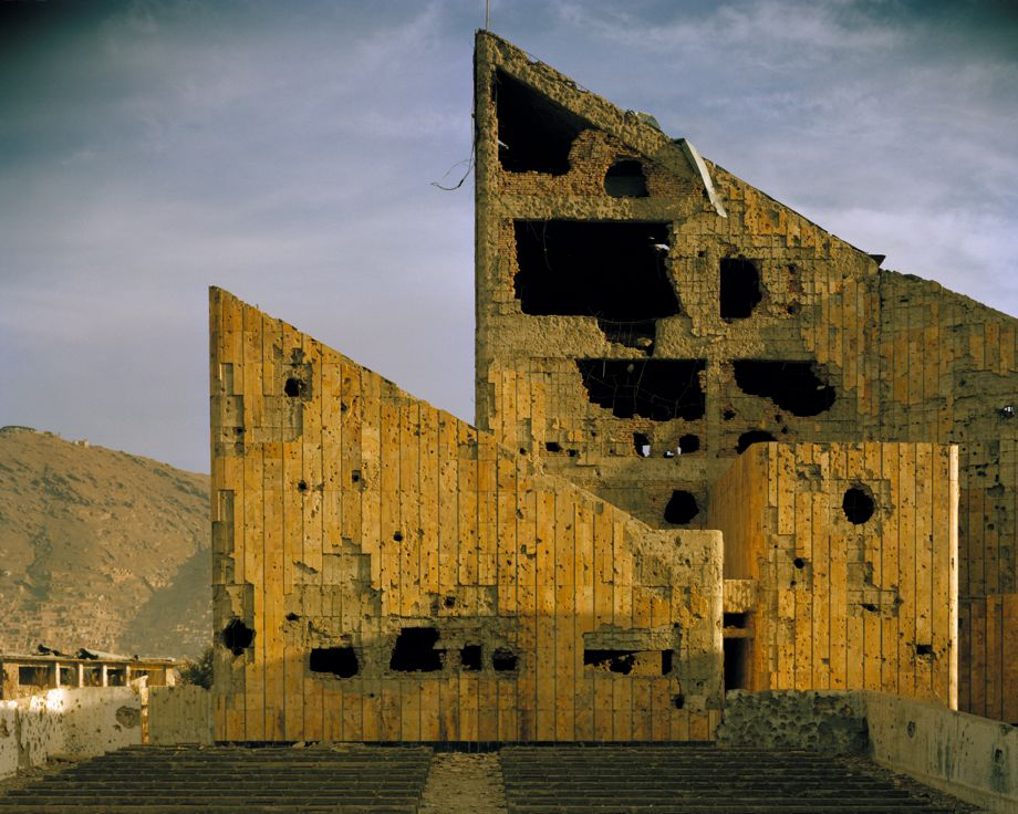 Simon Norfolk's photo of the former Soviet-era Palace of Culture, Kabul, Afghanistan, 2001-02
