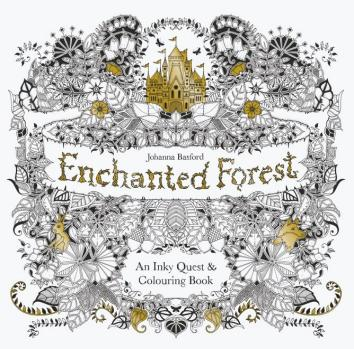 Johanna Basford Enchanted Forest Secret Garden Addictive Coloring Books For Grown Ups