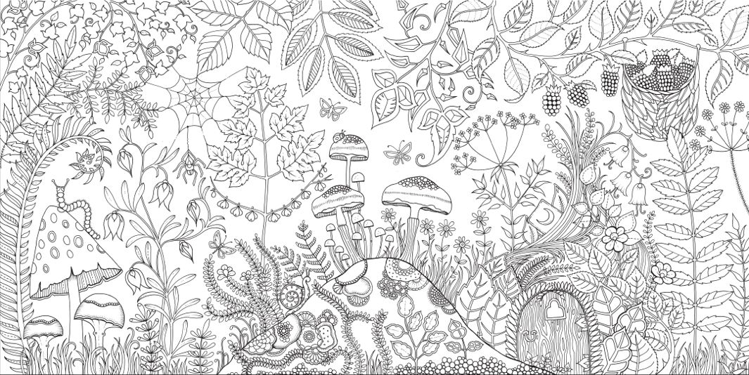 johanna basford enchanted forest courtesy the artist and laurence king 1 - Coloring Pages Abstract Printable