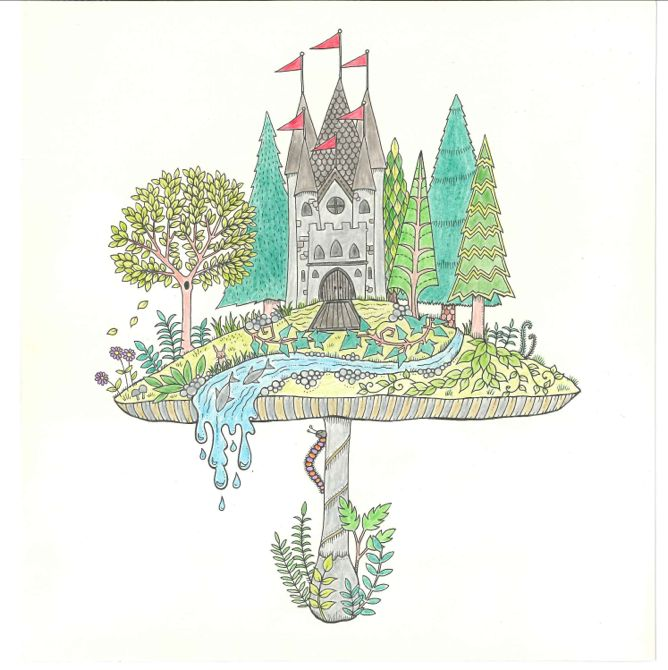 Secret Garden: colouring in for all | Life and style | The Guardian | 670x668