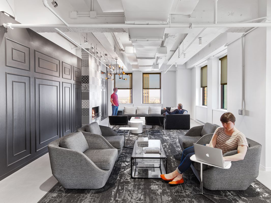 Linkedin nyc offices by ia interior architects include a for Office new design