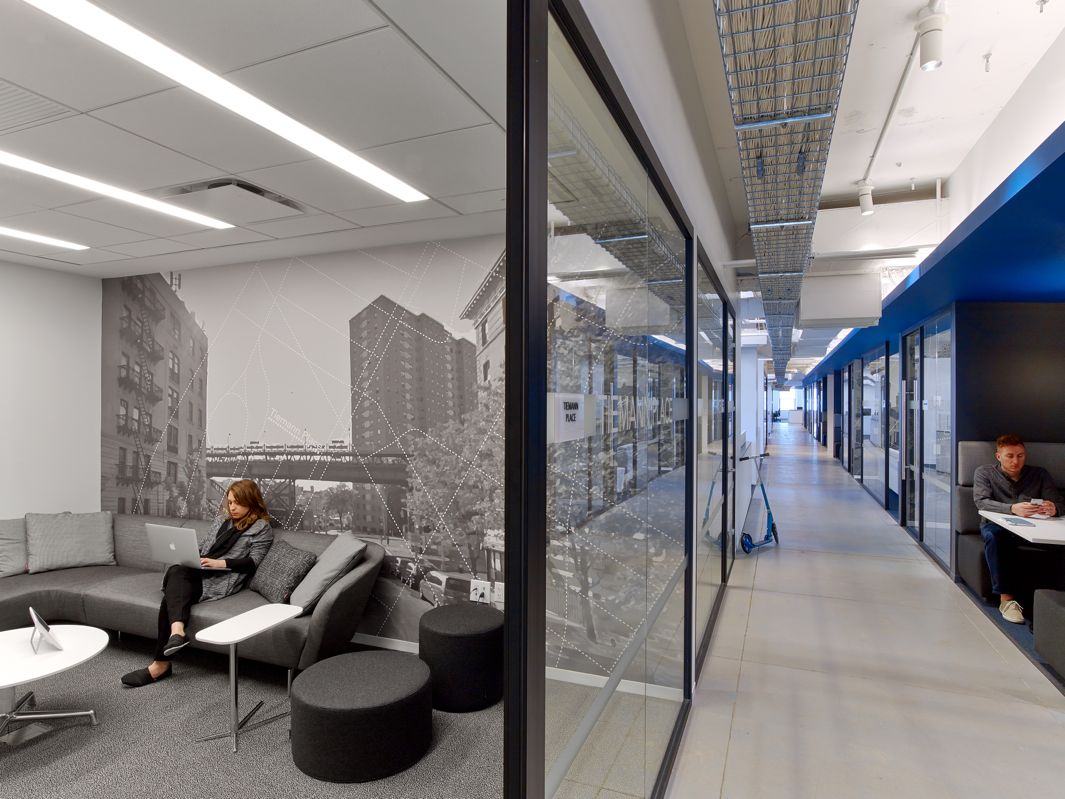 linkedin nyc offices by ia interior architects include a