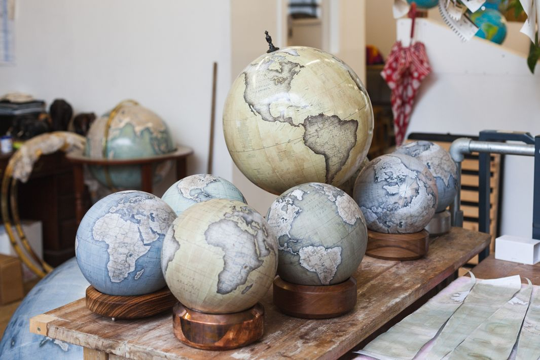 Handcrafted Desk Globes at Bellerby & Co Globemakers in London - Photo Credit - Ana Santl