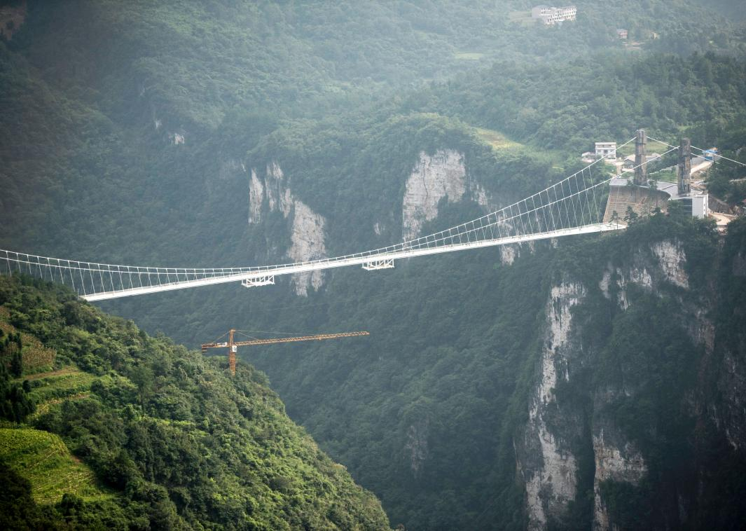 592631254 the worlds highest and longest glass bottomed - Zhangjiajie Glass Bridge