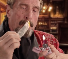 John McAfee Continues to Be One Weird Dude