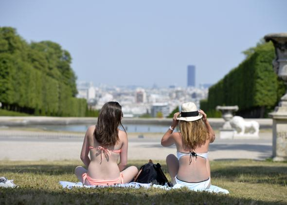 479130980-two-women-in-bikinis-sunbathe-on-the-grass-in-a-park-in