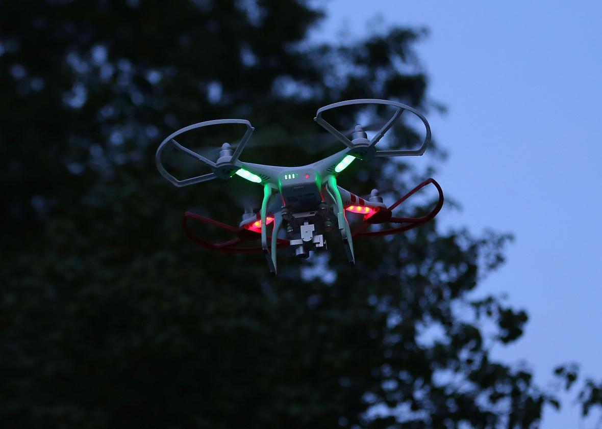 485983686 Drone Is Flown For Recreational Purposes In