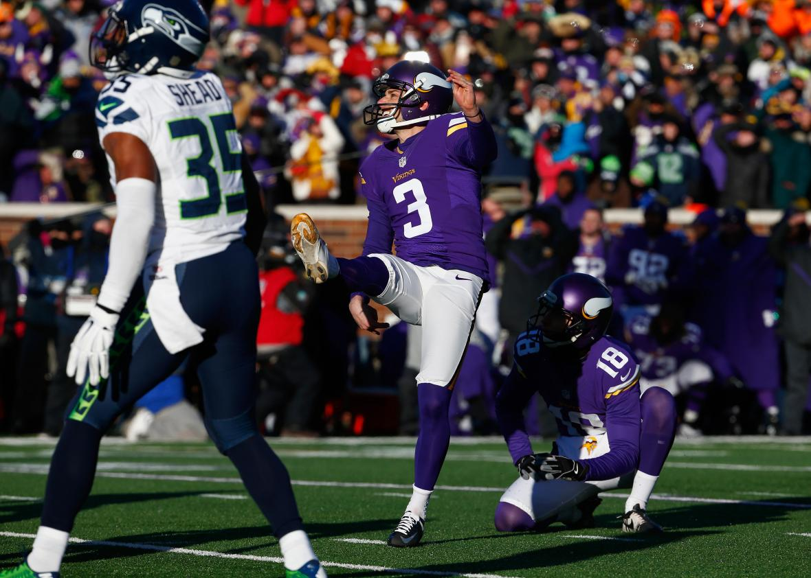 ec10b239 Vikings miss short field goal to lose playoff game against Seahawks.