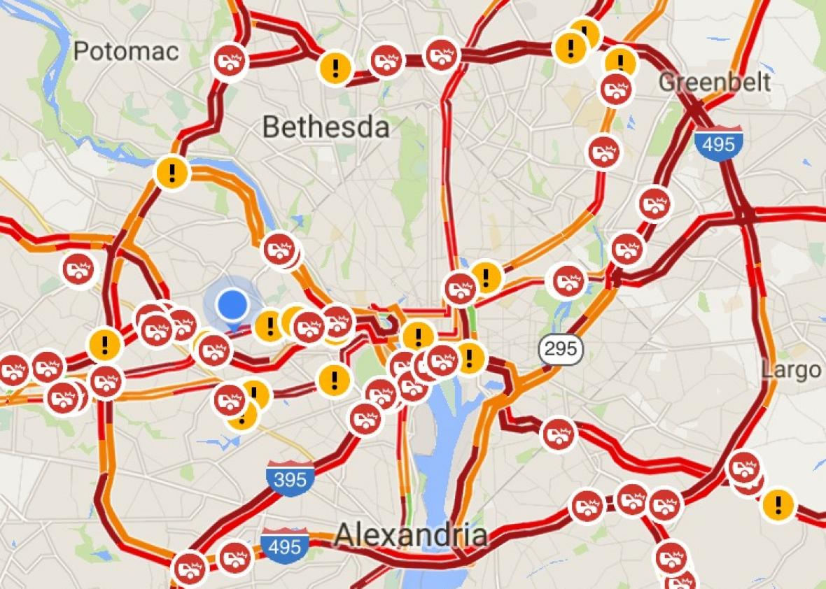Washington Dc Traffic Map Afp Cv