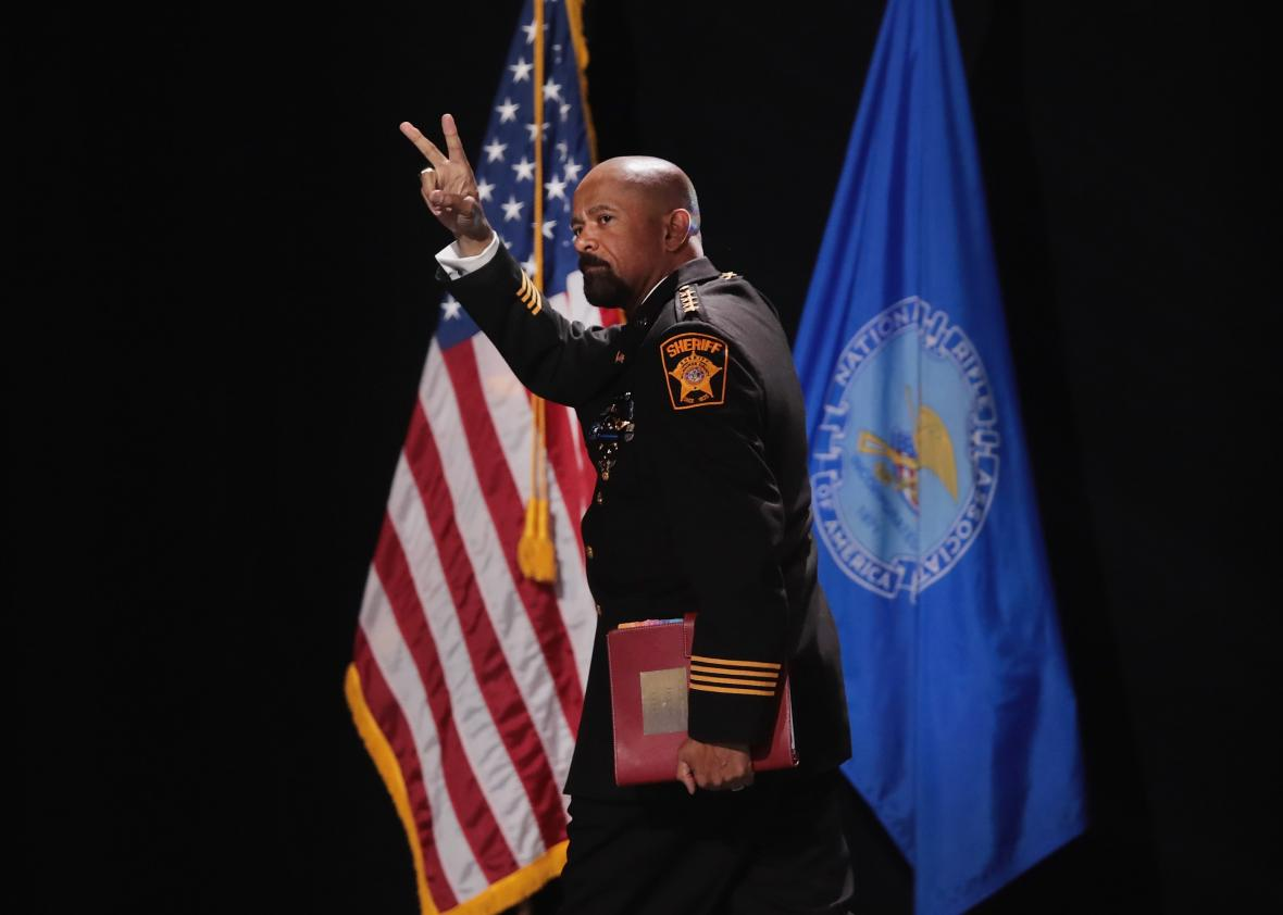 Sheriff David Clarke's thesis deleted from school's website after plagiarism accusation