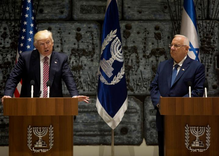 "Our Genius President Just Told a Room Full of Israelis That He ""Just Got Back From the Middle East"""