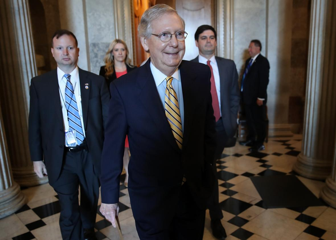 Mitch-McConnell-Works-To-Muster-Votes-To-Proceed-With-GOP-Health-Care-Bill