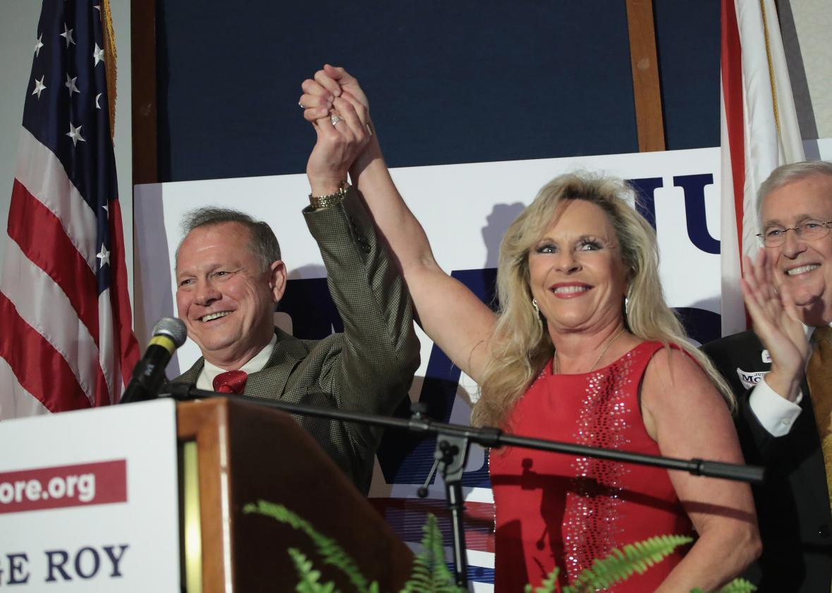 Alabama-GOP-Senate-Candidate-Roy-Moore-Holds-Election-Night-Gathering-In-Special-Election-For-Sessions-Seat
