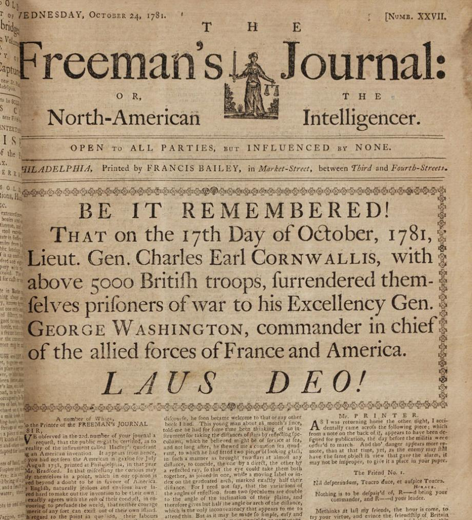 revolutionary war newspaper template yorktown cornwallis on quotes quotesgram