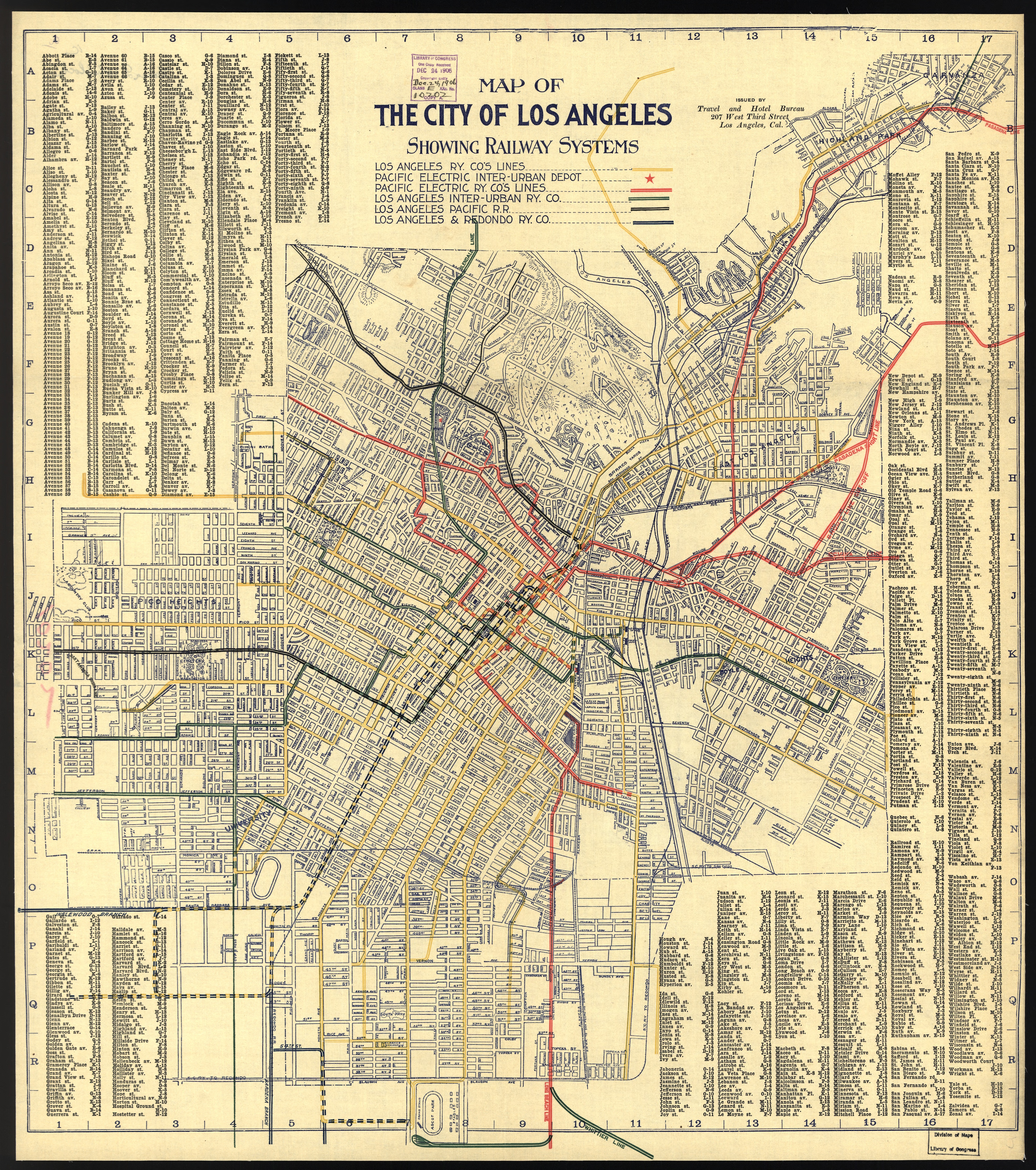 Transit History In Los Angeles A  Map Of The Citys Streetcar - Los angeles in map