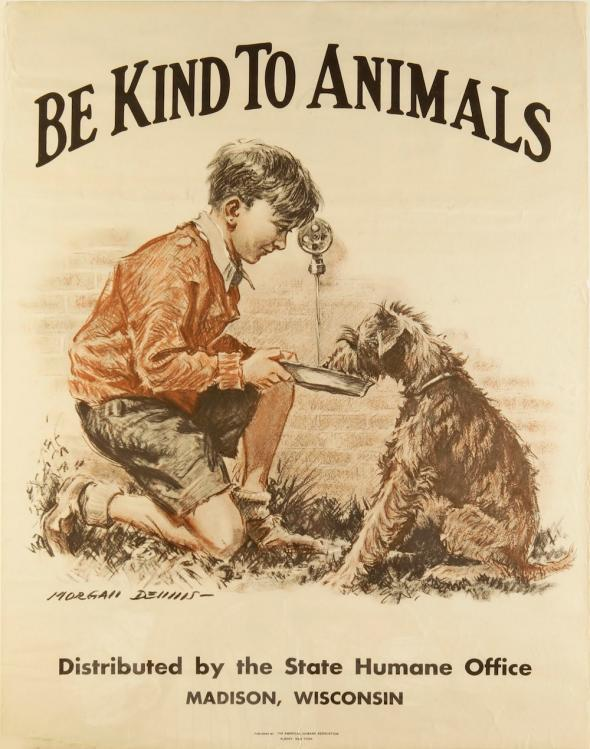 Morgan Dennis posters promoting kindness to animals.