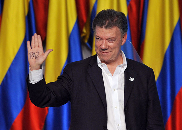 Colombian President and presidential candidate Juan Manuel Santos.