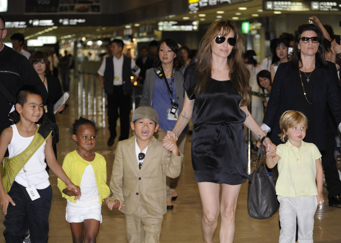 Angelina Jolie is 'being consoled by Johnny Depp'