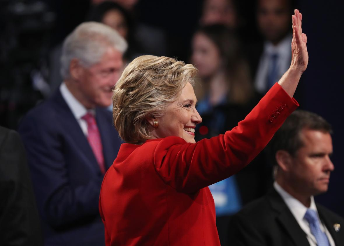 610603048-democratic-presidential-nominee-hillary-clinton-waves